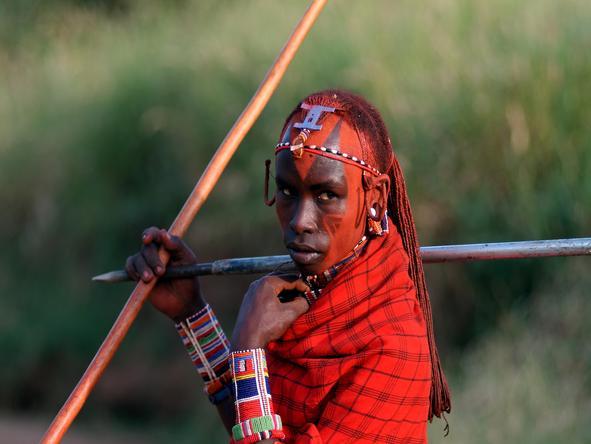 proud african warrior