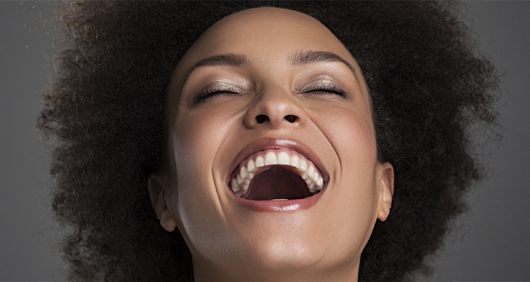 laughing black lady