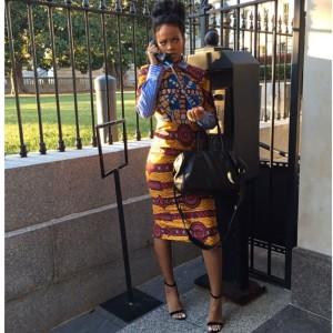 Rihanna in Stella Jean