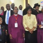 L-r Former ICAN President Sir Ike Nwokolo , ), Most Reverend Ephraim Ademowo his wife, Mrs. Oluranti,and The Rt Rev Alex Ibezim with his award