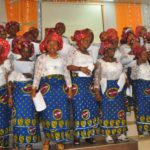 Cross Section of the Choristers Women's Ministry (WM) Assemblies of God Church Ikeja Singing at the (WM) Celebration with them' Restoration of the total woman' held at the Church Premises in Lagos on Sunday 8/5/2015