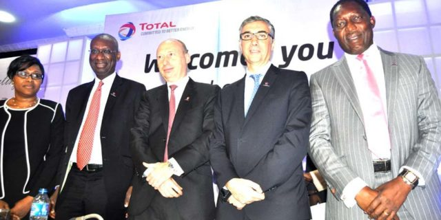 AGM..(L-r) Company Secretary Total Nigeria Plc Mrs Olubunmi Popoola-Mordi,Chairman Board of Directors Mr Momar Nguer, Mr Stanislas Mittelman and Mr Jean –Philippe Torres Both Directors and Executive Director Prince Jefferson Nnamani at the 38th Annual General Meeting of Total Nigeria Plc in Lagos yesterday PHOTO CHINYERE IKEANYI