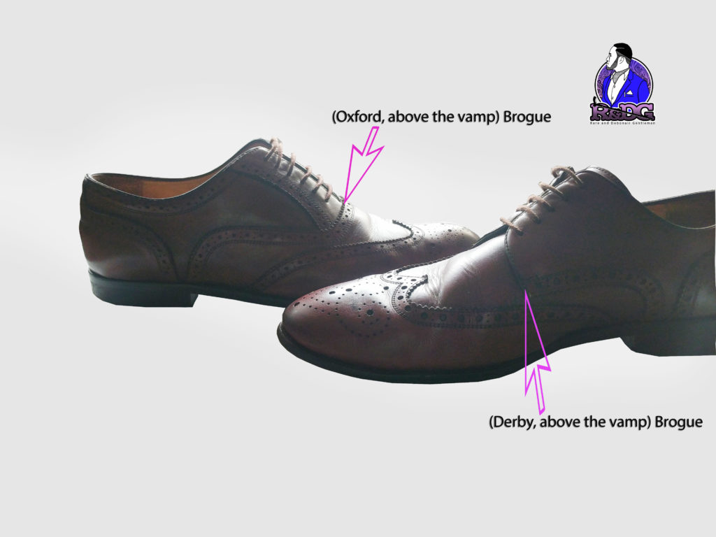 The difference between an above the vamp and below the vamp brogue, Nigerian male fashion editor stylist Chukwuemeka Anyiam-Osigwe, Lifestyle Fashion Tip on Pride Nigeria Magazine, Shoes their formality and functionality, 6 pairs of shoes every man needs and why
