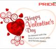 Happy Valentine's Day from Pride Nigeria Leisure and Lifestyle Magazine, Valentine's day 2018, Give love joy and happiness on Valentine's Day, Charles Osigwe-Anyiam-Osigwe Editor in chief of Pride Nigeria Magazine